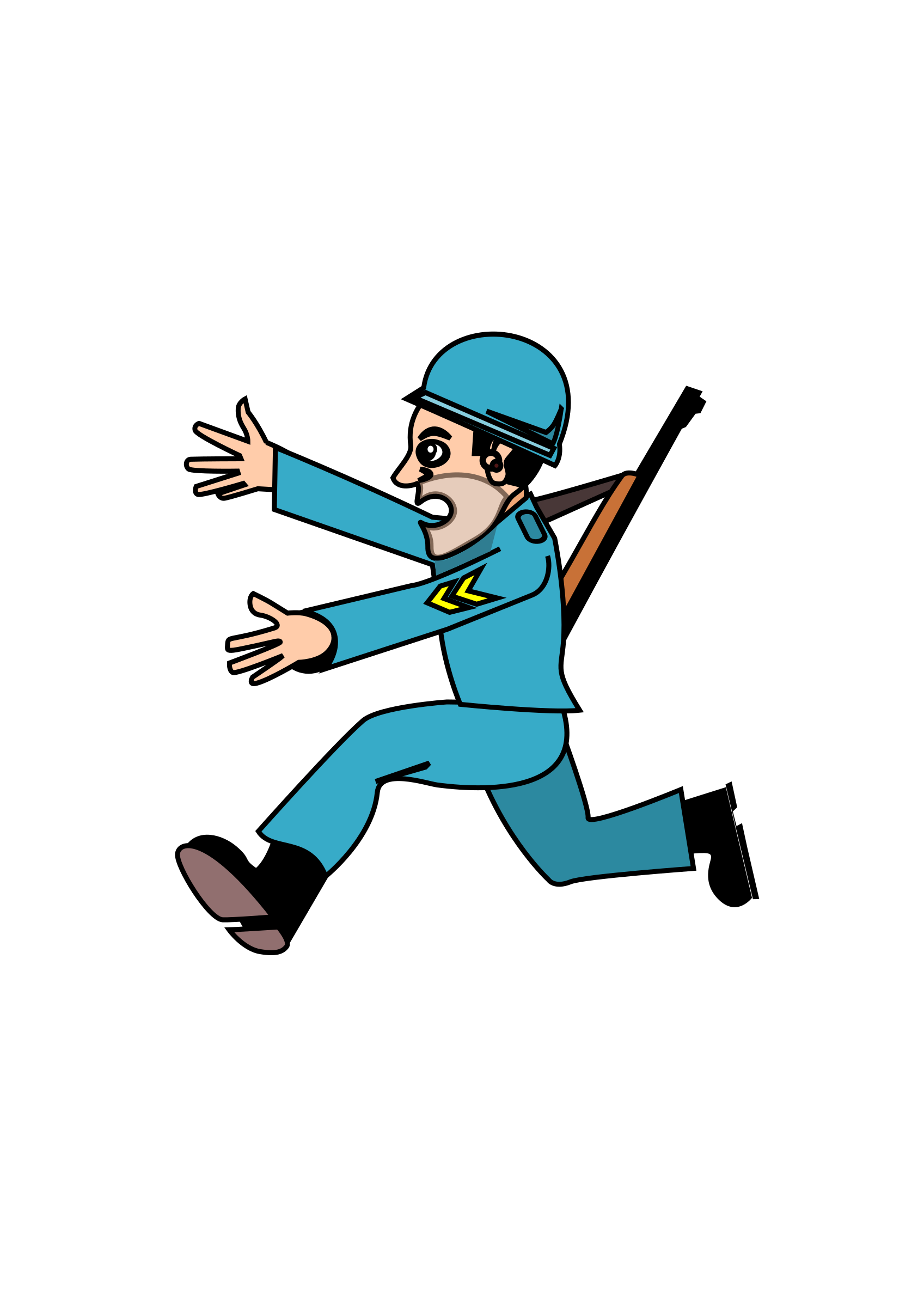 Soldier svg cartoon. Clipart soldierblue big image