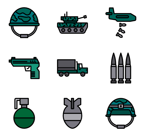 Military svg icon. Soldier packs vector