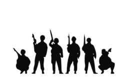 Svg silhouette soldier. Troop picture