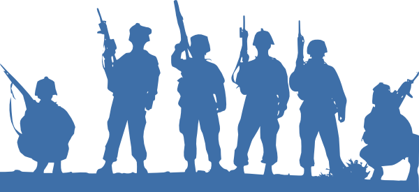 Svg silhouette soldier. Soldiers clip art at