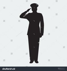 Soldiers clipart army commander. Soldier saluting silhouette png