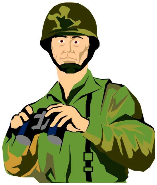 soldiers clipart army commander