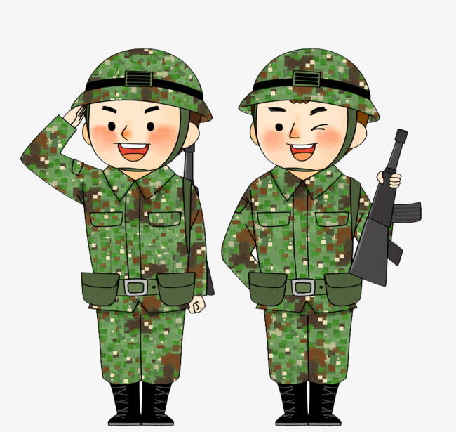 Soldiers clipart troop. Cartoon troops ppt soldier