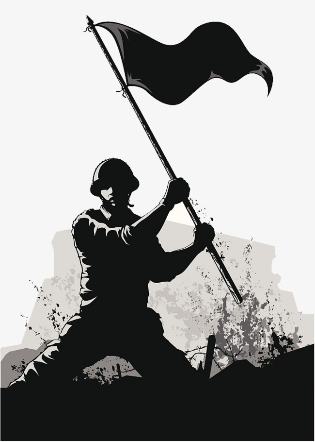 Soldiers clipart troop. Army ppt soldier black