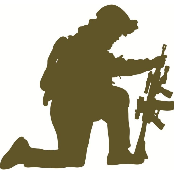 Soldiers clipart troop. Fallen soldier memorial silhouette