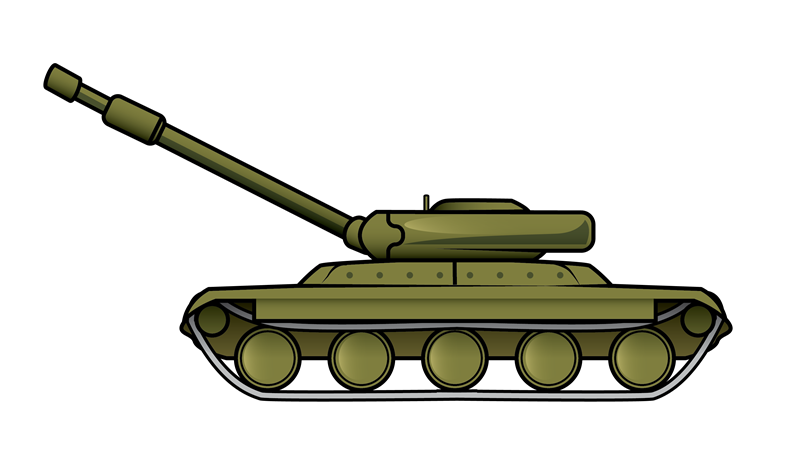 Vector tanks army. Military vehicles clipart at