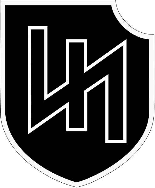 nd ss panzer. Hitler vector bolt banner black and white download