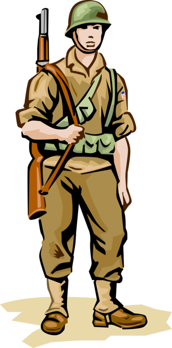 Soldiers vector ww2. Infantry soldier in world