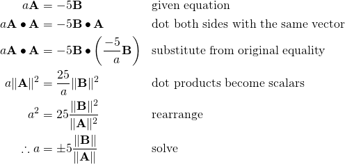 Solve vector equation. Formalism in introductory physics
