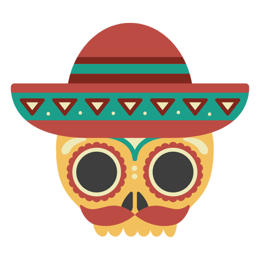 Sombrero png. Skull with mask transparent