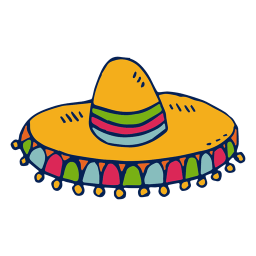 Vector sombrero transparent background. Download free png image
