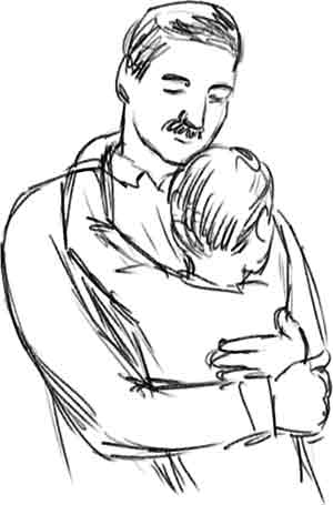 Son Dad Hug Transparent Clipart Free Download