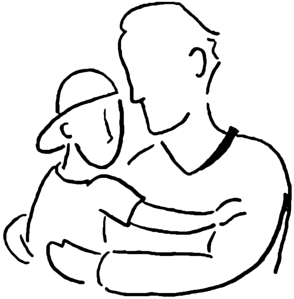 Dad day png draw. Father and son clipart