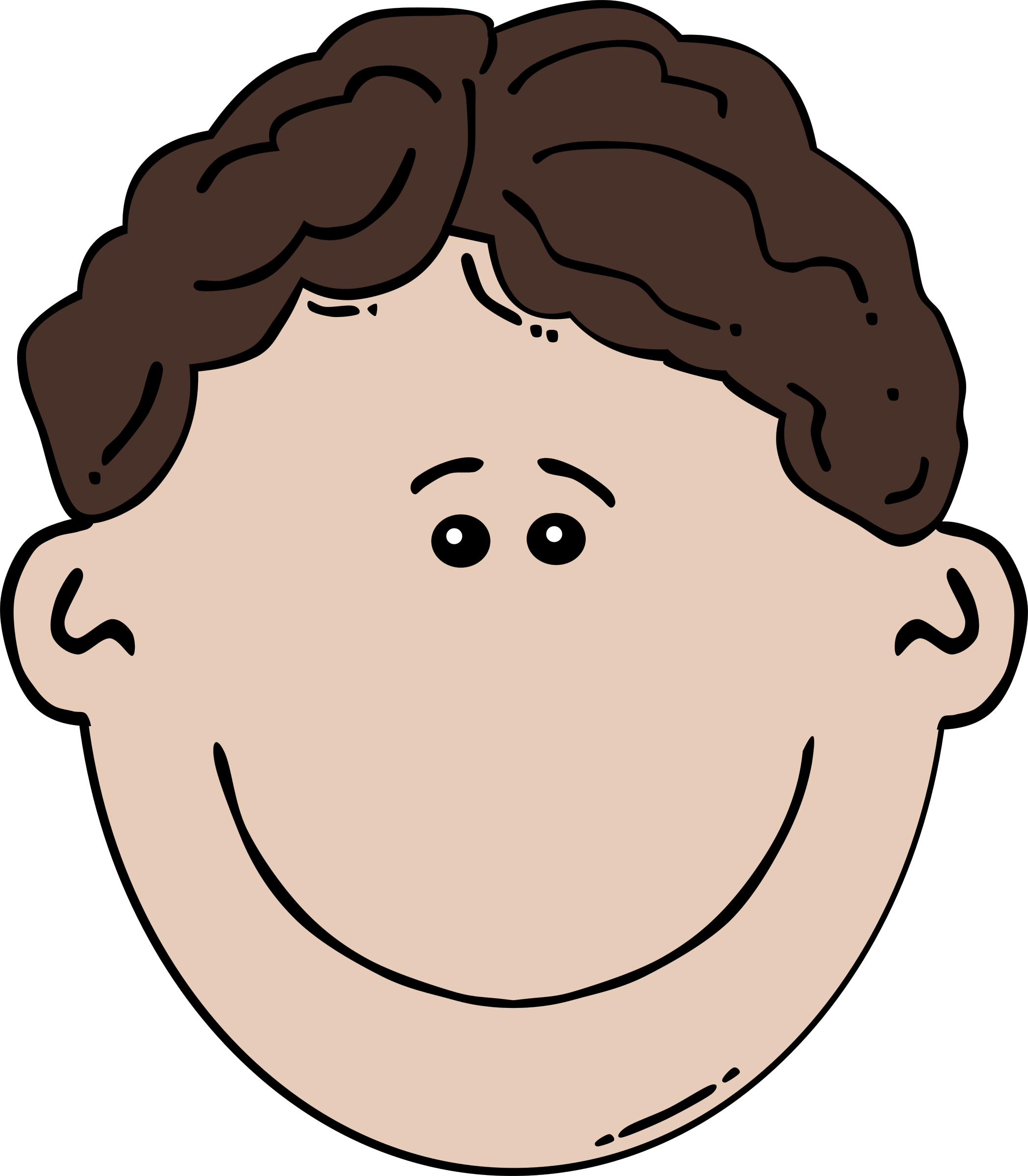 Son clipart face to face. Boy cartoon big image