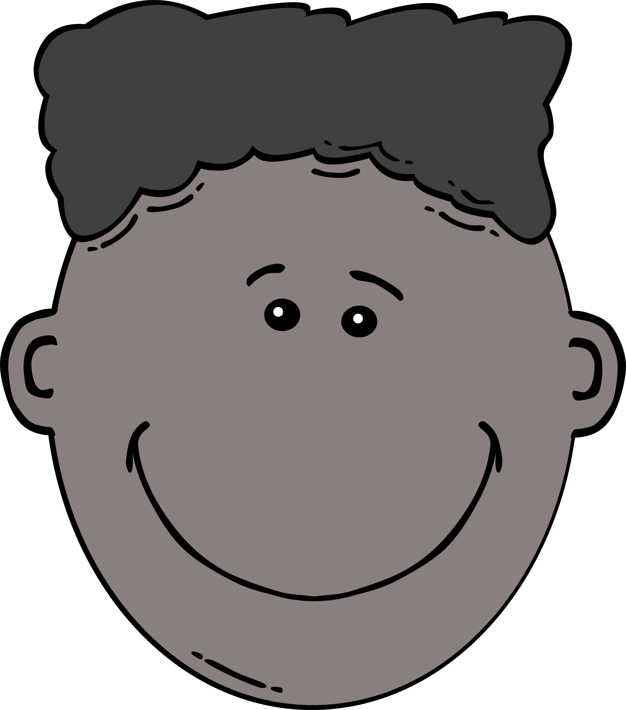 Boy cartoon big image. Son clipart face to face clip library stock
