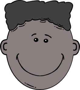 Boy cartoon clip art. Son clipart face to face jpg library stock