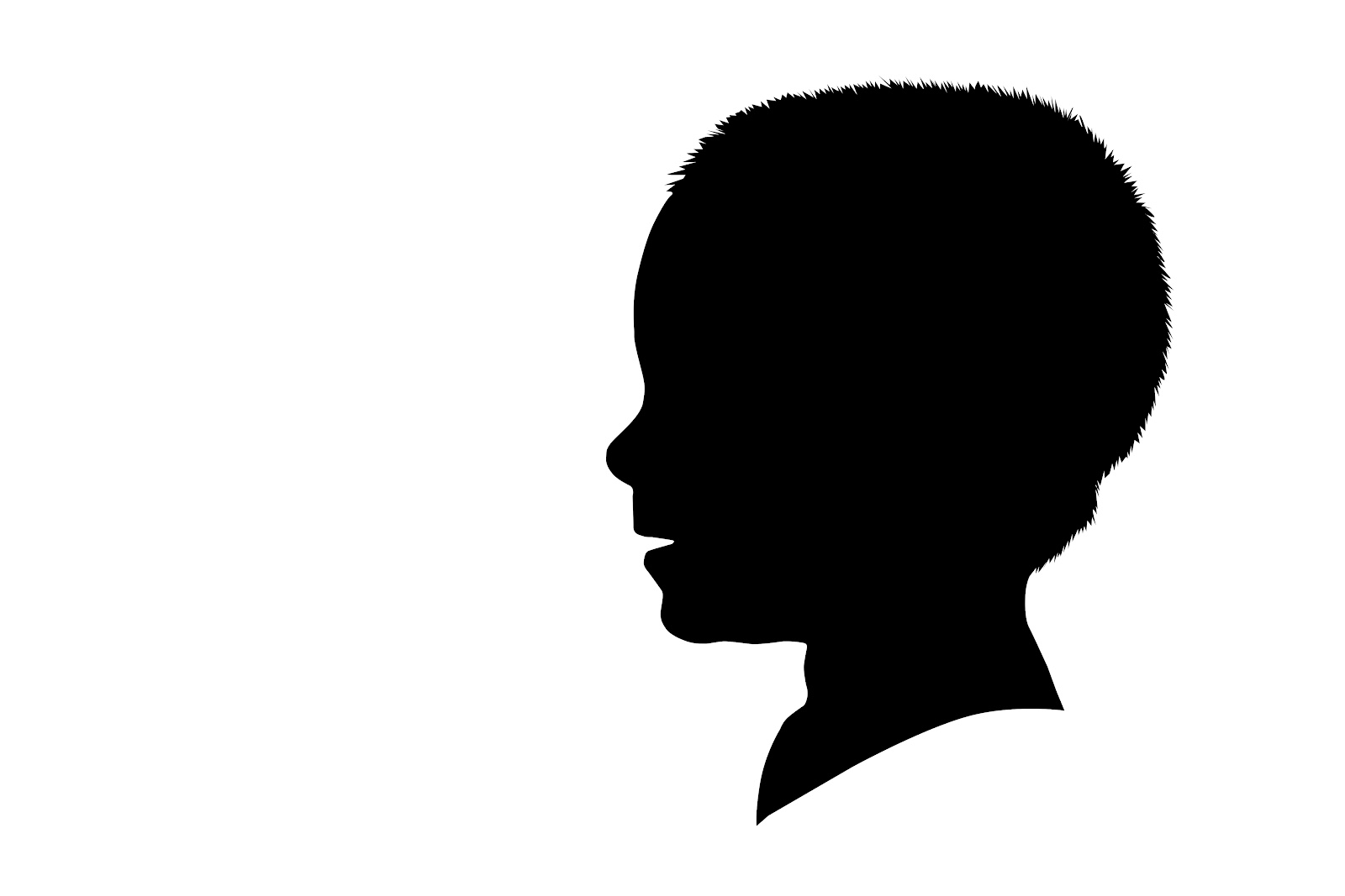 Son clipart face to face. Child silhouette at getdrawings