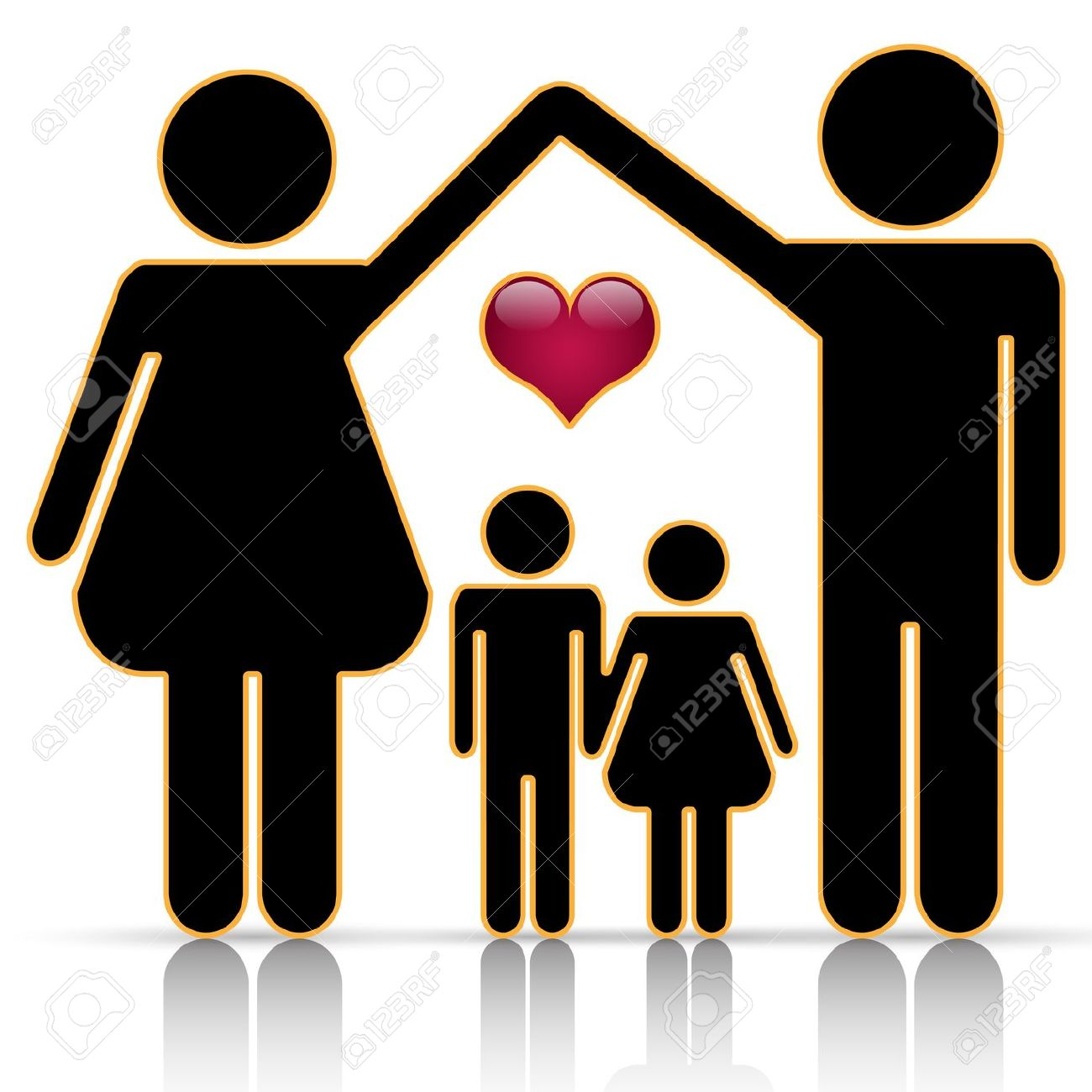 Son clipart family 6. Happy father mother grandparents