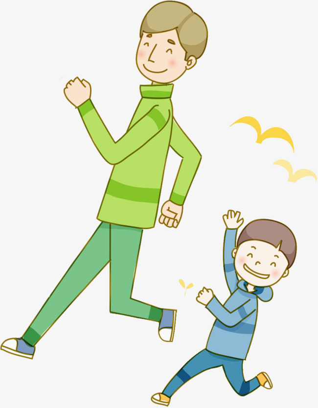 Son clipart papa. Morning run father and