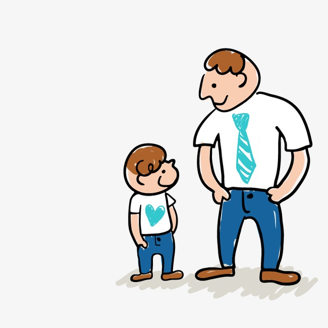 Son clipart papa. Father and white t