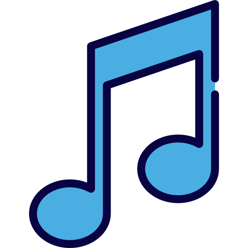 Song clipart music icon. Musical note quaver and