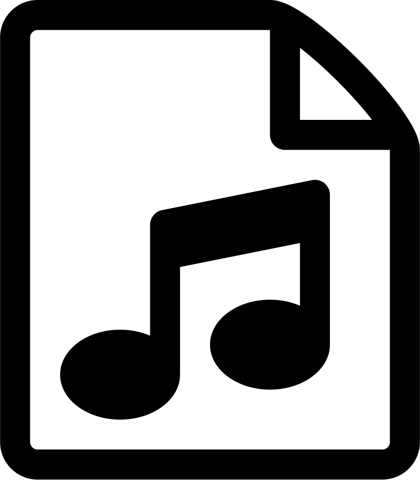 Song clipart music icon. File document audio svg