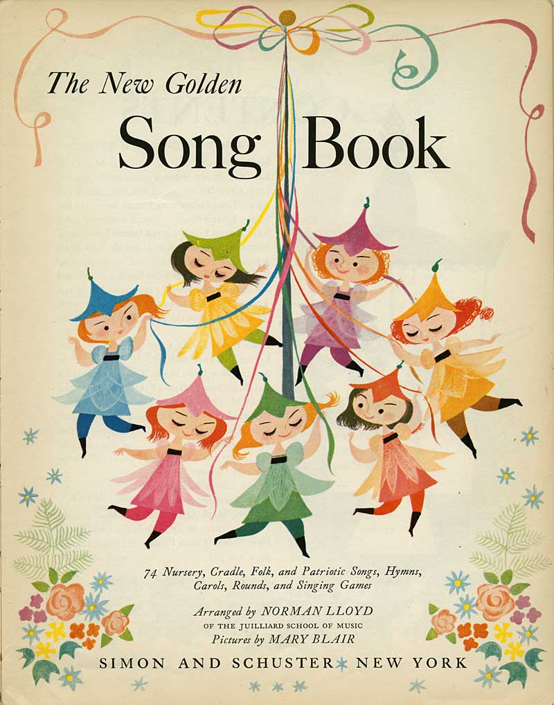 Illustration mary blair animationresources. Song clipart song book black and white download