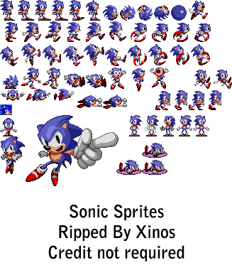Sonic 1 sprite png. Mobile the hedgehog part