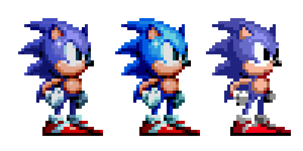 Sonic 1 sprite png. S mania recolored to