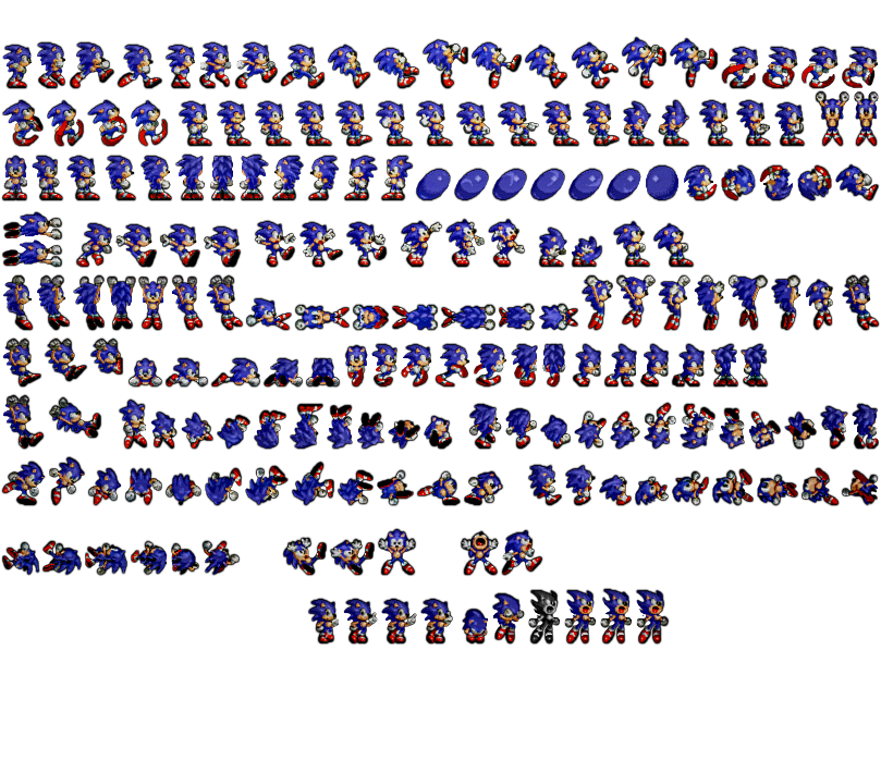 Sonic 1 sprite png. The hedgehog sprites rendered