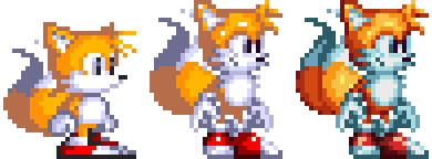 Tails sprite png. Custom sonic by cloud