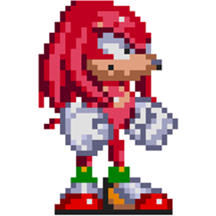 Knuckles sprite png. Sonic standing right roblox