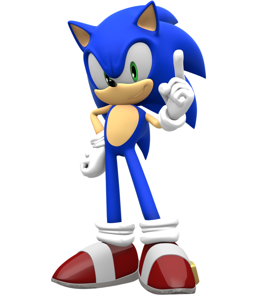 Sonic 4 png. Episode pose remade by