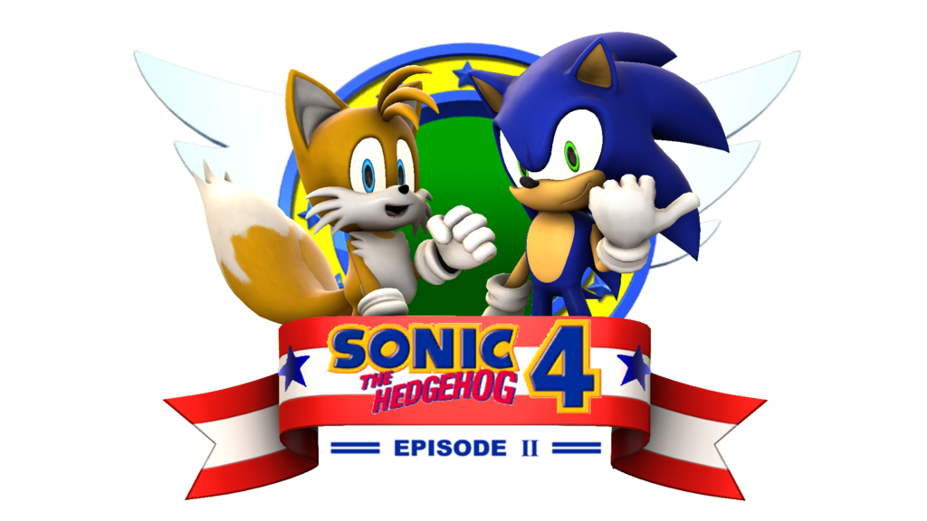 Sonic 4 episode 2 png. Sfm title screen remake