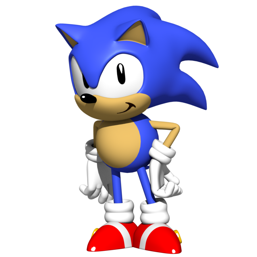 D pose remake by. Sonic blast png clipart free download