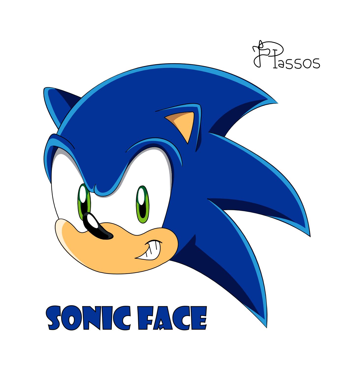 Sonic face png. Collection of drawing