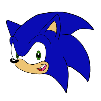 Sonic head png. By pikachugirl the hedgehog