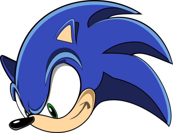 Sonic head png. The hedgehog by j