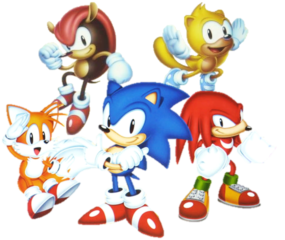 Sonic mania knuckles png. The echidna tails segasonic