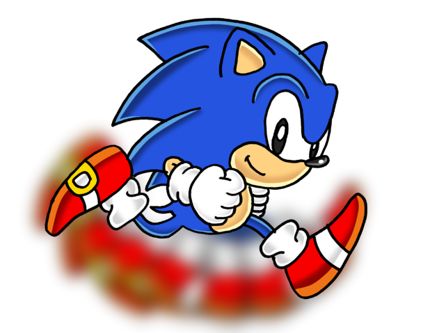 Sonic running png. Image classic crazy rap