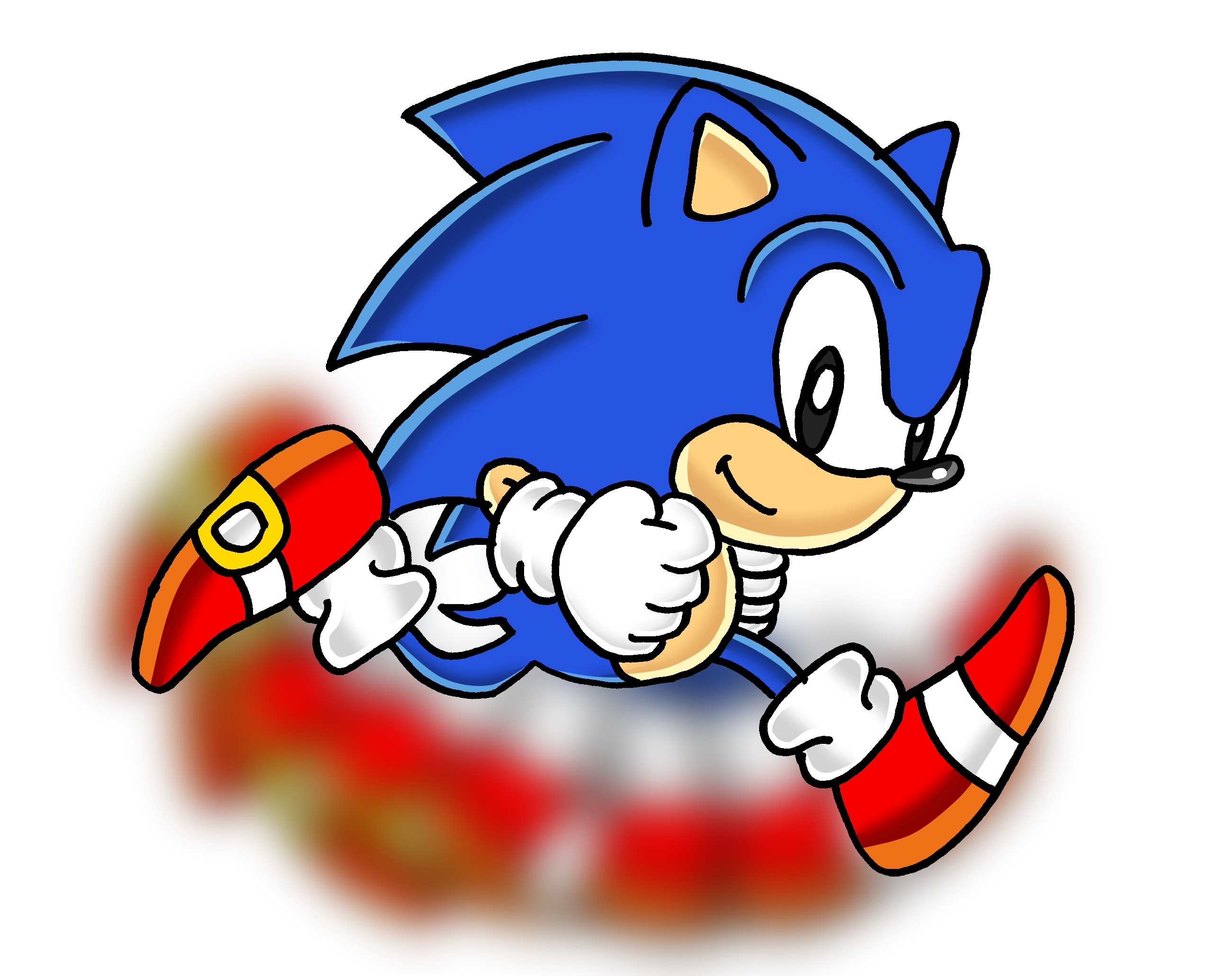 Sonic running png. Image classic news network