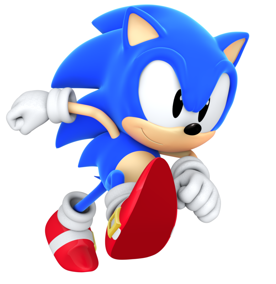 Sonic running png. Classic by blueparadoxyt on