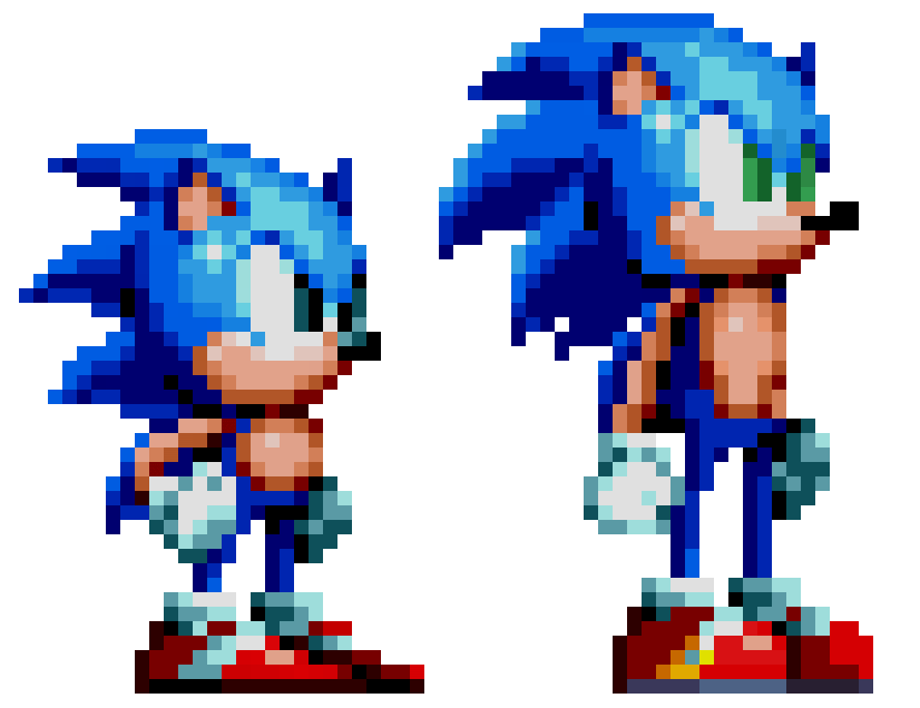 Sonic sprite png. I updated my modern