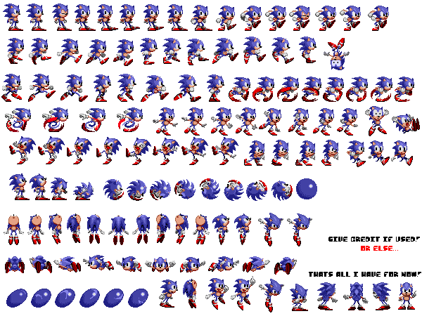 Sonic the hedgehog objects sprite strip png. Pack v by artman