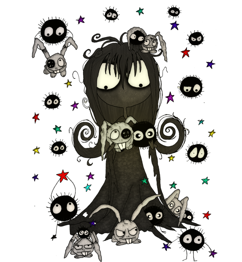 Soot sprite png. Girl meets the sprites