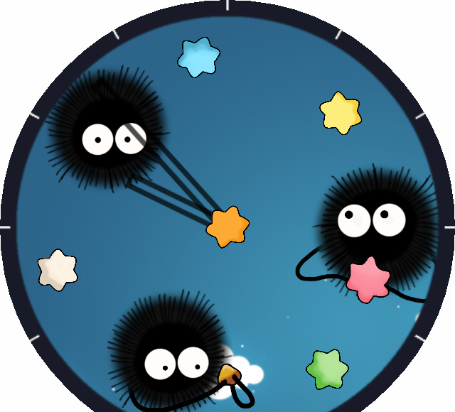 Soot sprite png. Spirited away face for