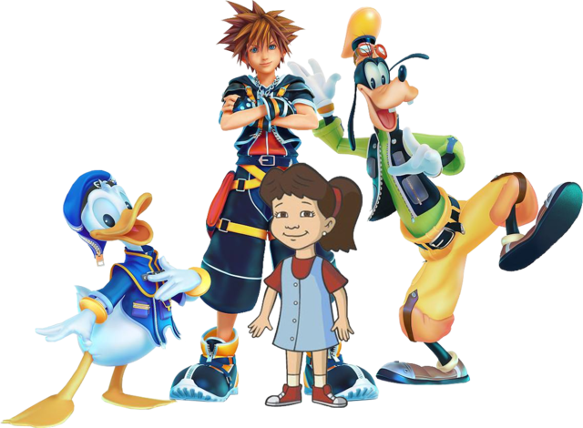 Sora donald and goofy png. Image emmy idea wiki