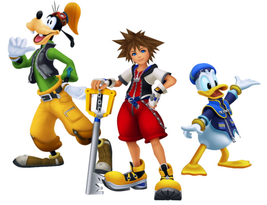 Sora donald and goofy png. By legend tony on