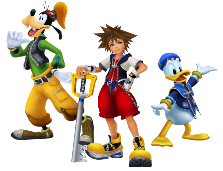 Sora donald and goofy png. Rumor are kingdom hearts