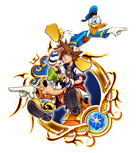 sora donald and goofy png